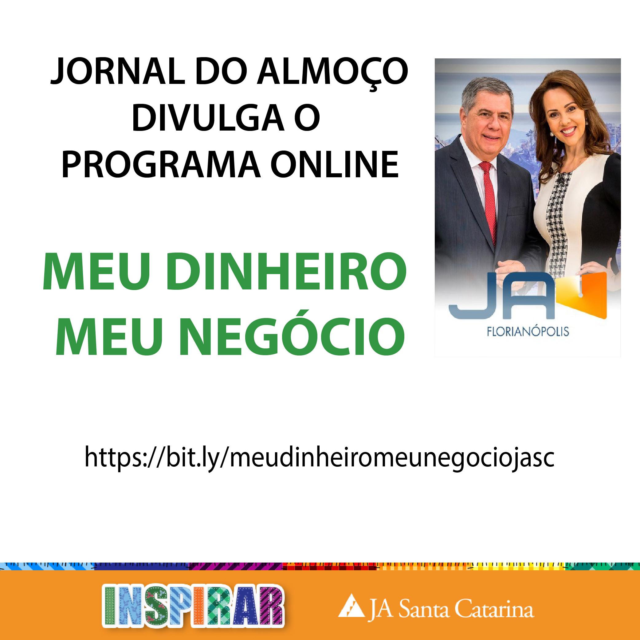 JORNAL DO ALMOÇO/NSC FALA SOBRE PROGRAMA ONLINE GRATUITO
