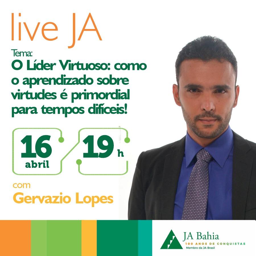 #LIVEJA com Gervazio Lopes