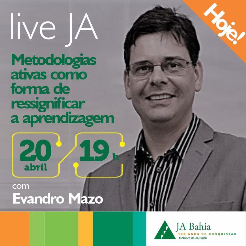 #LIVEJA com Evandro Mazo