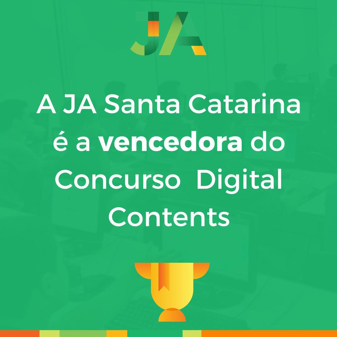 JA Santa Catarina é a vencedora do Concurso Digital Contents
