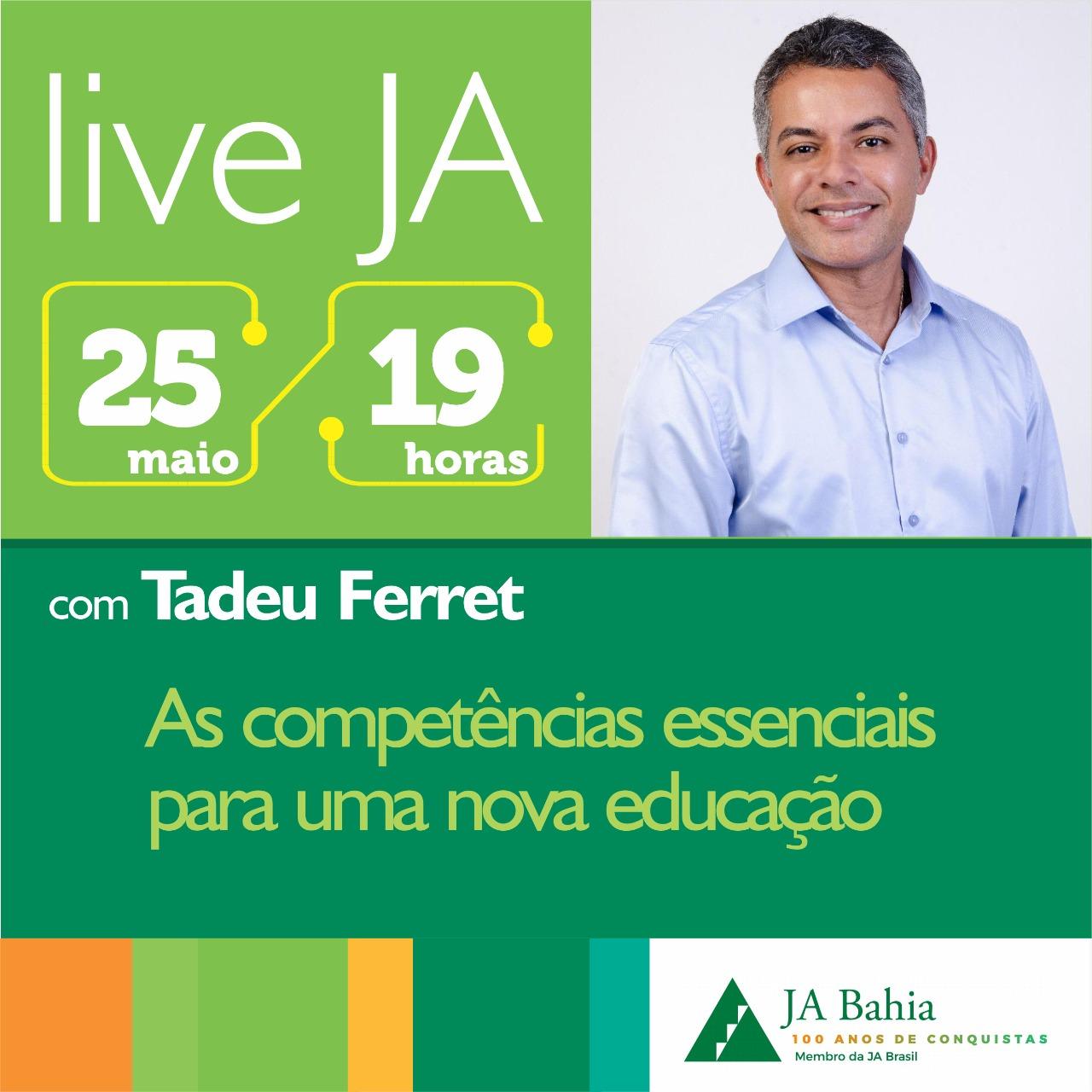 #LIVEJA com Tadeu Ferrat