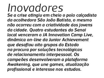 Innovation Camp Live na coluna de Cacau Menezes