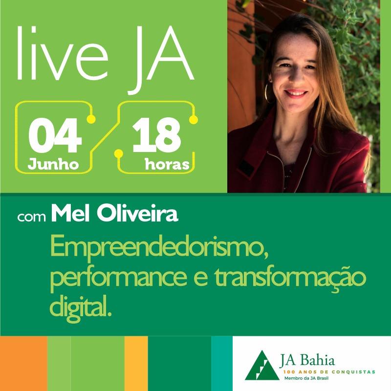 #LIVEJA com Mel Oliveira