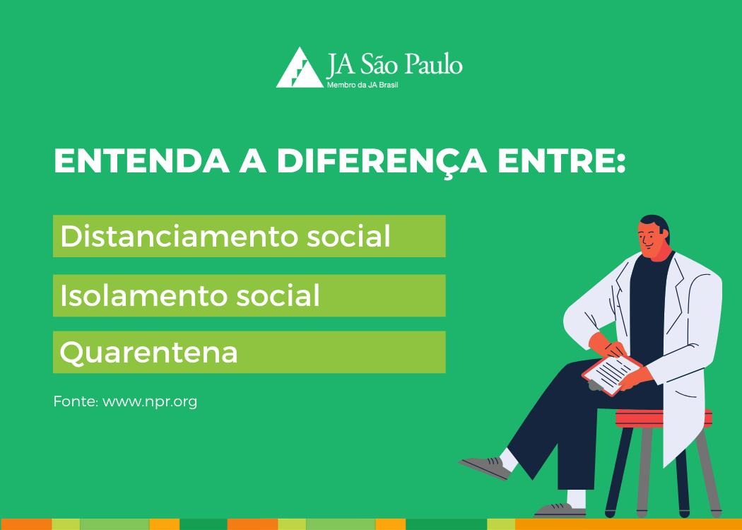 Qual a diferença entre Distanciamento social, isolamento e quarentena