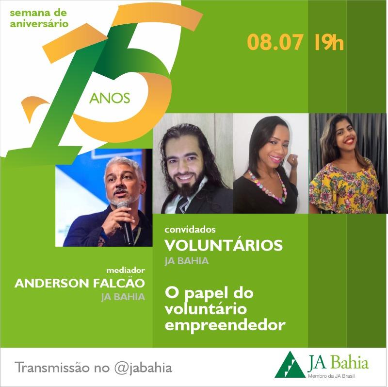 #LIVEJA15ANOS com Voluntários