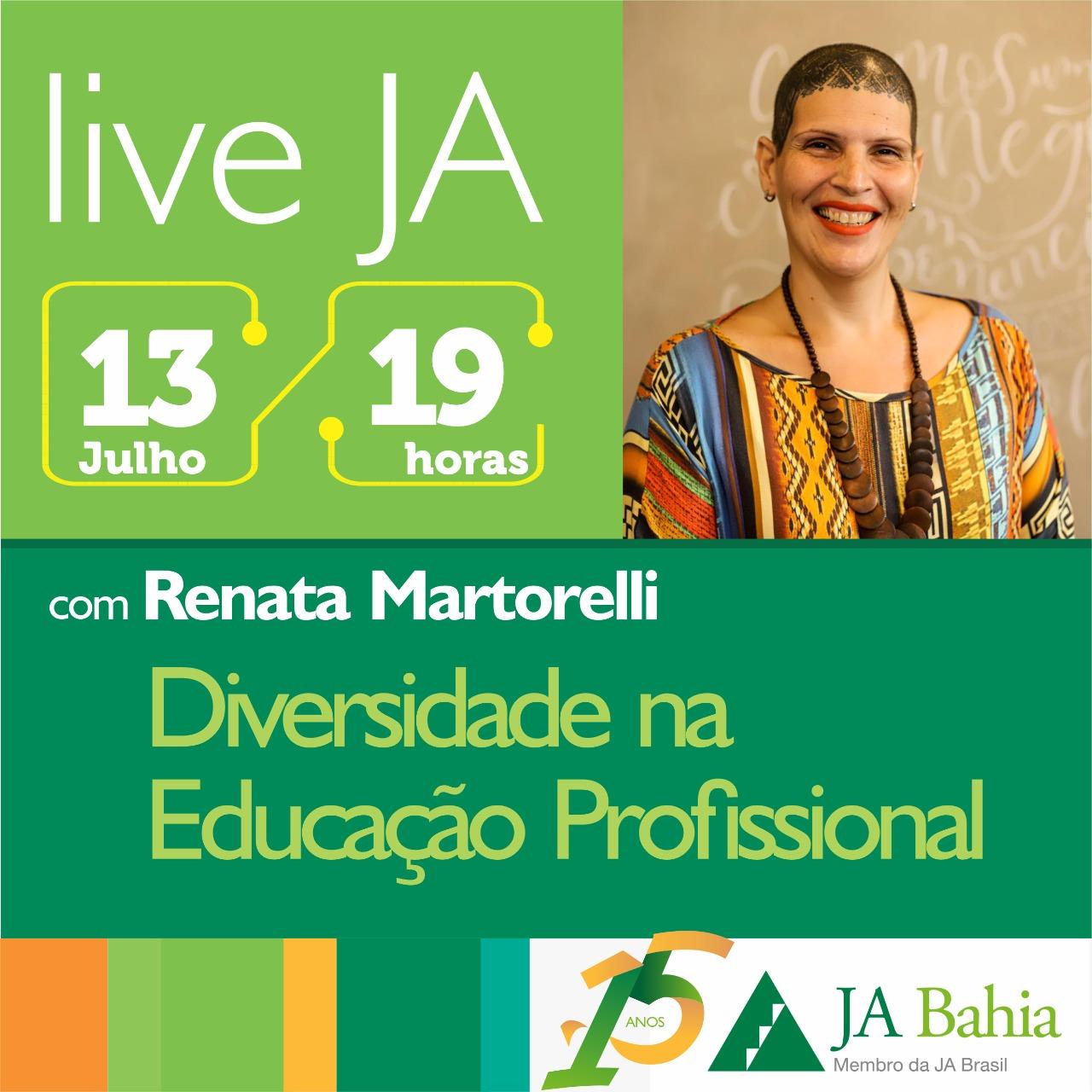 #LIVEJA com Renata Martorelli