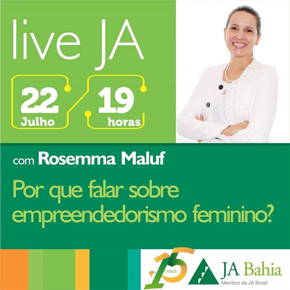 #LiveJA com Rosemma Maluf