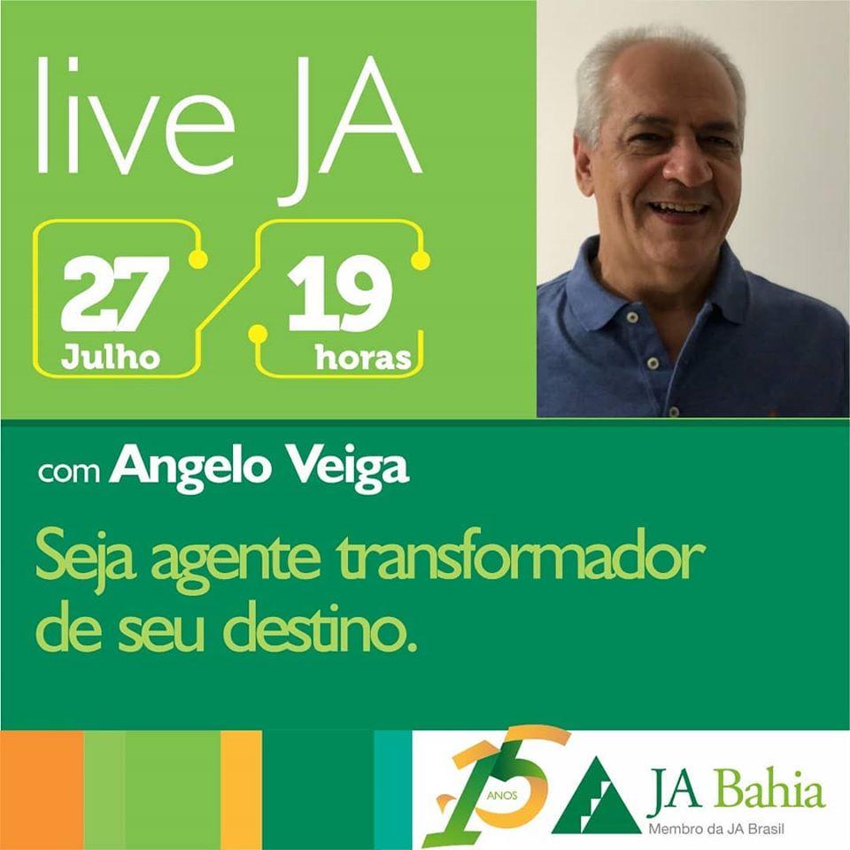 #LIVEJA com Angelo Veiga
