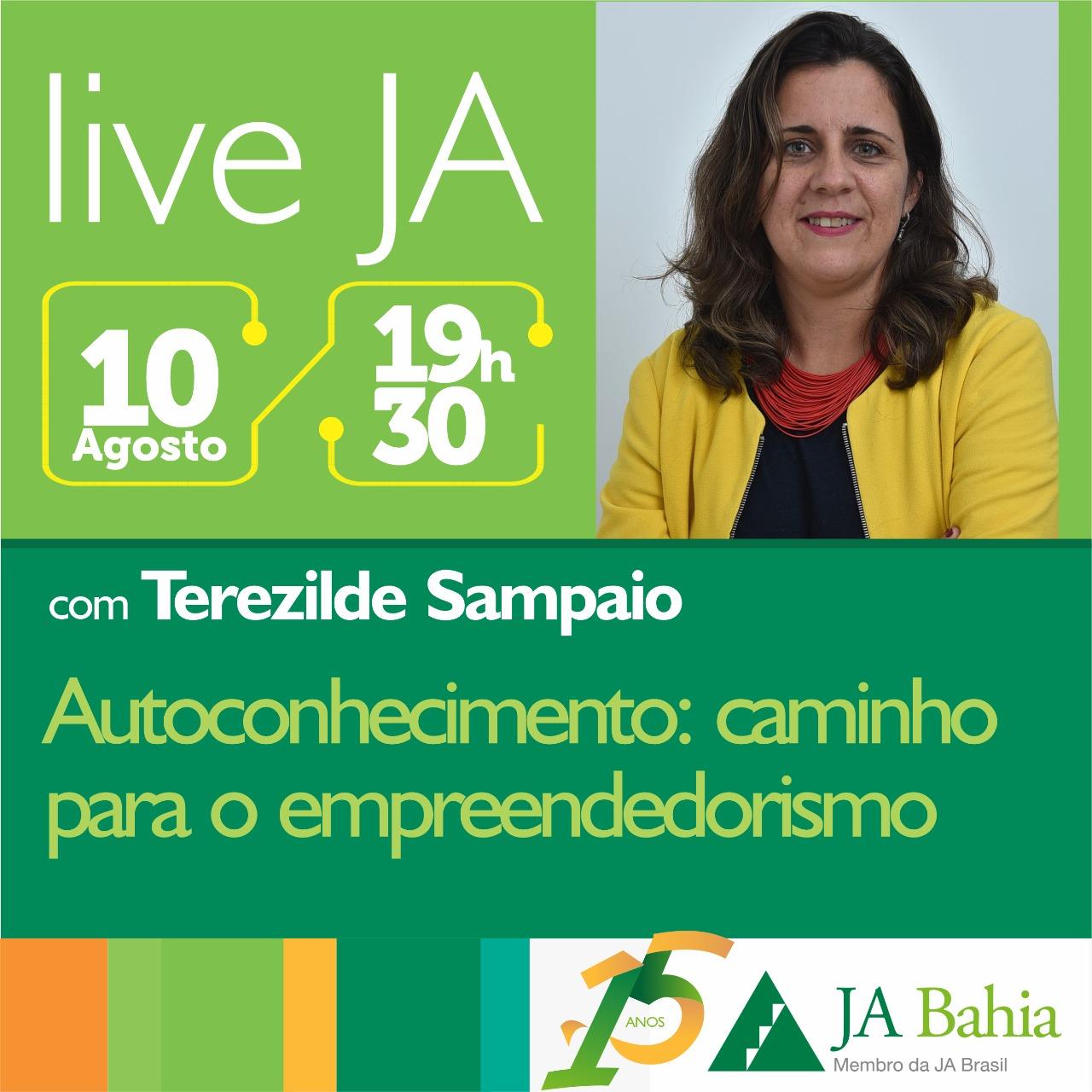 #LIVEJA com Terezilde Sampaio