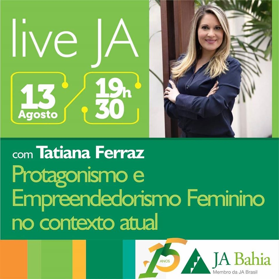 #LIVEJA com Tatiana Ferraz