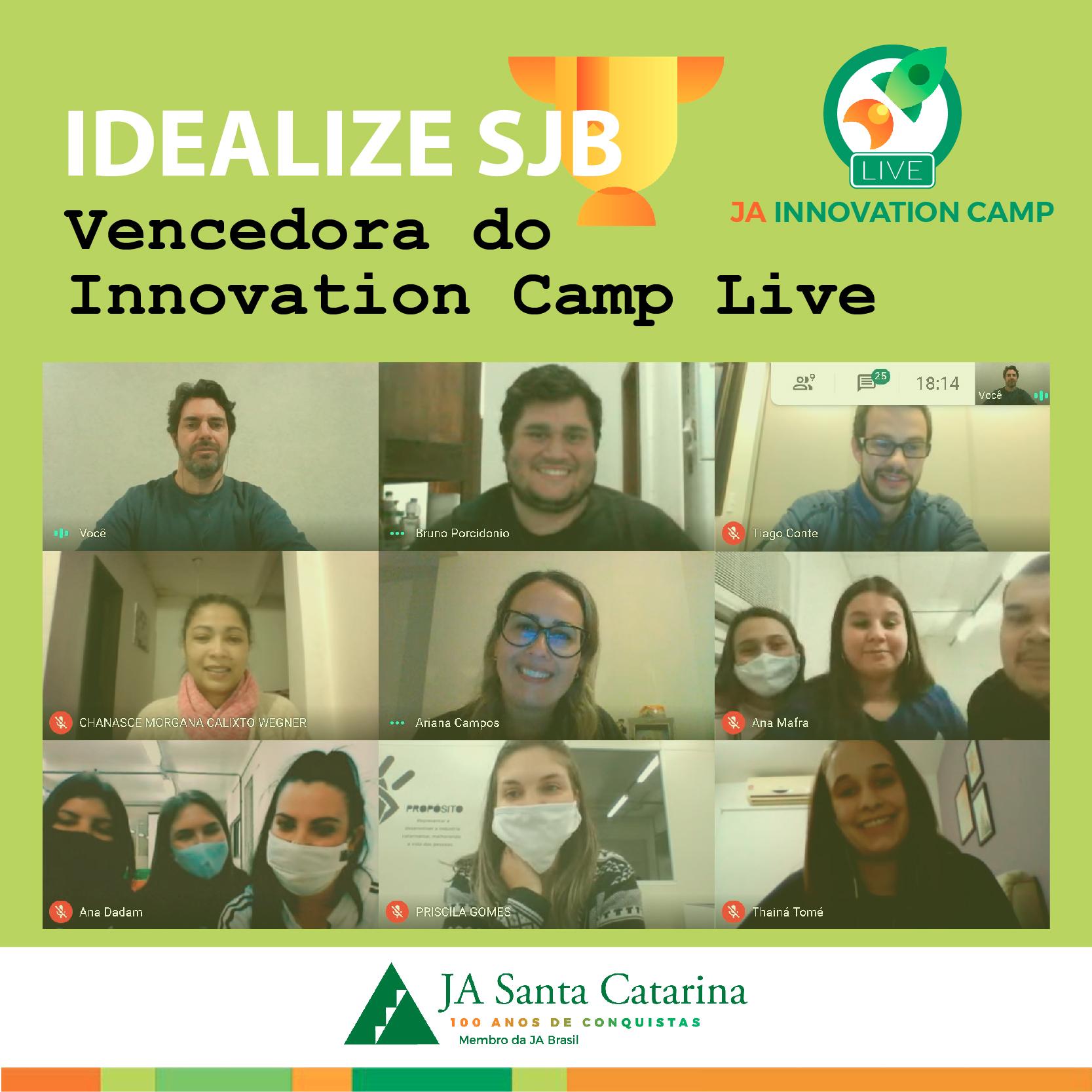 Innovation Camp Live tem campeões de São João Batista