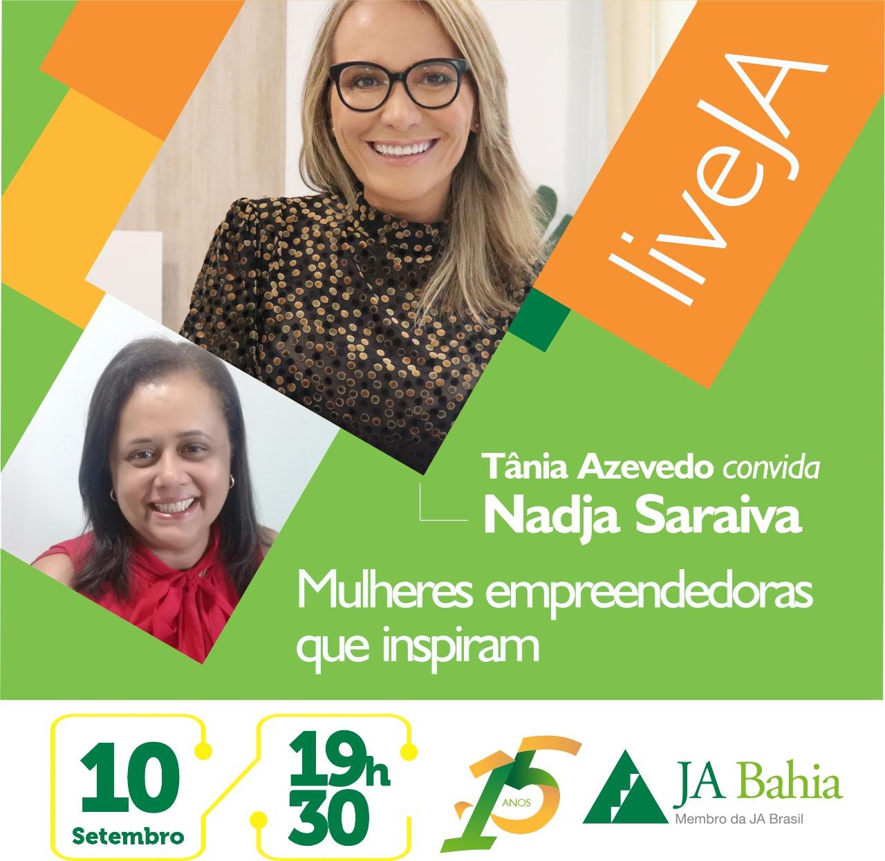 #LIVEJA com Nadja Saraiva