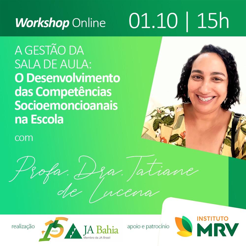 Workshop Online com Profa. Dra. Tatiane de Lucena