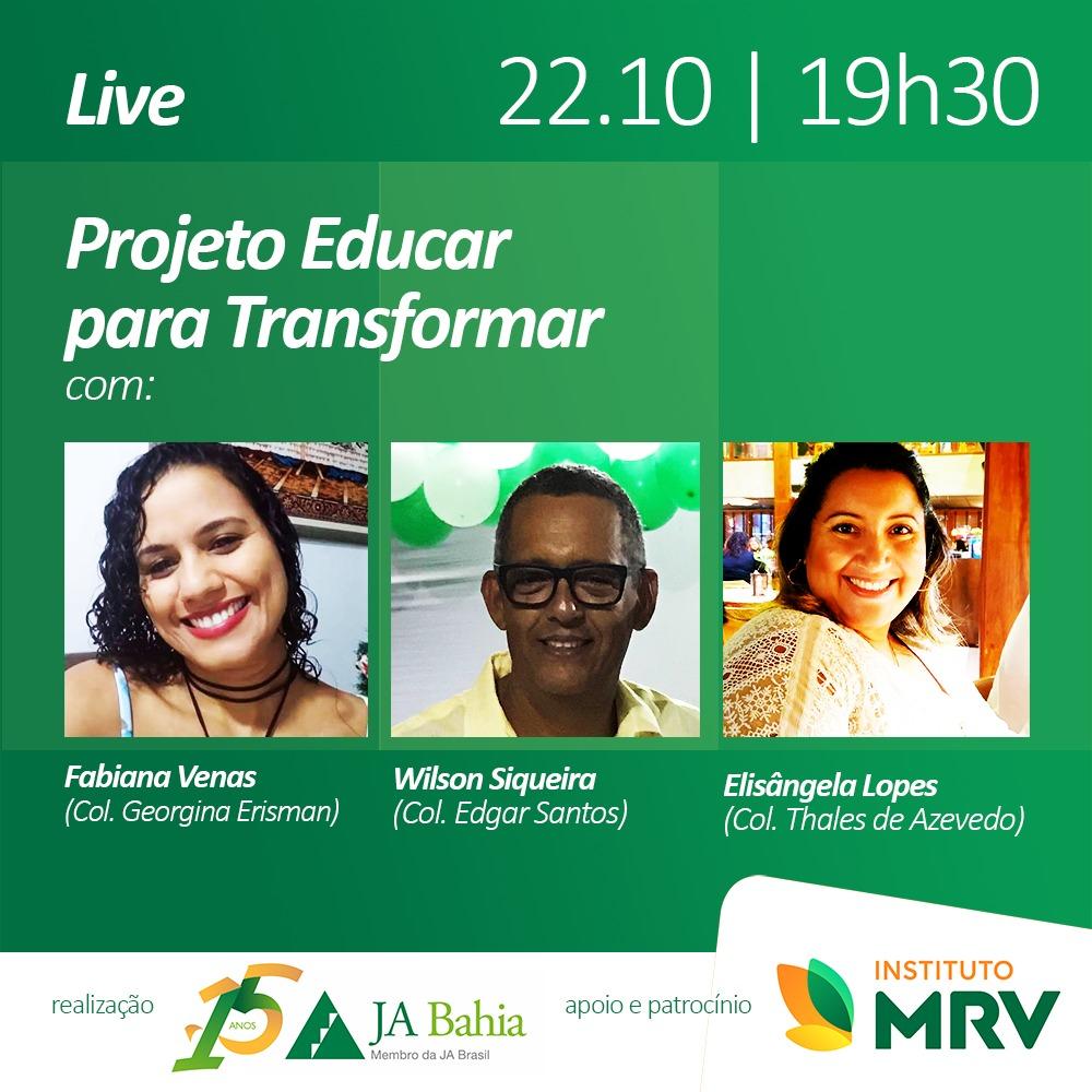 #LIVEJA Projeto Educar para Transformar