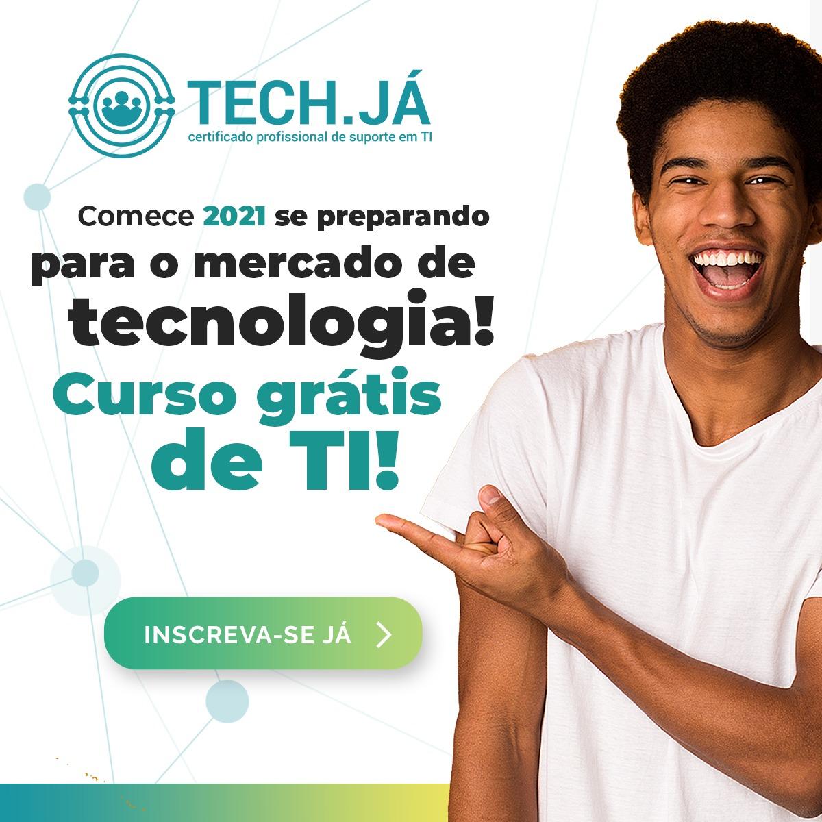 Inscrições Tech.Já - Certificado profissional de suporte em TI