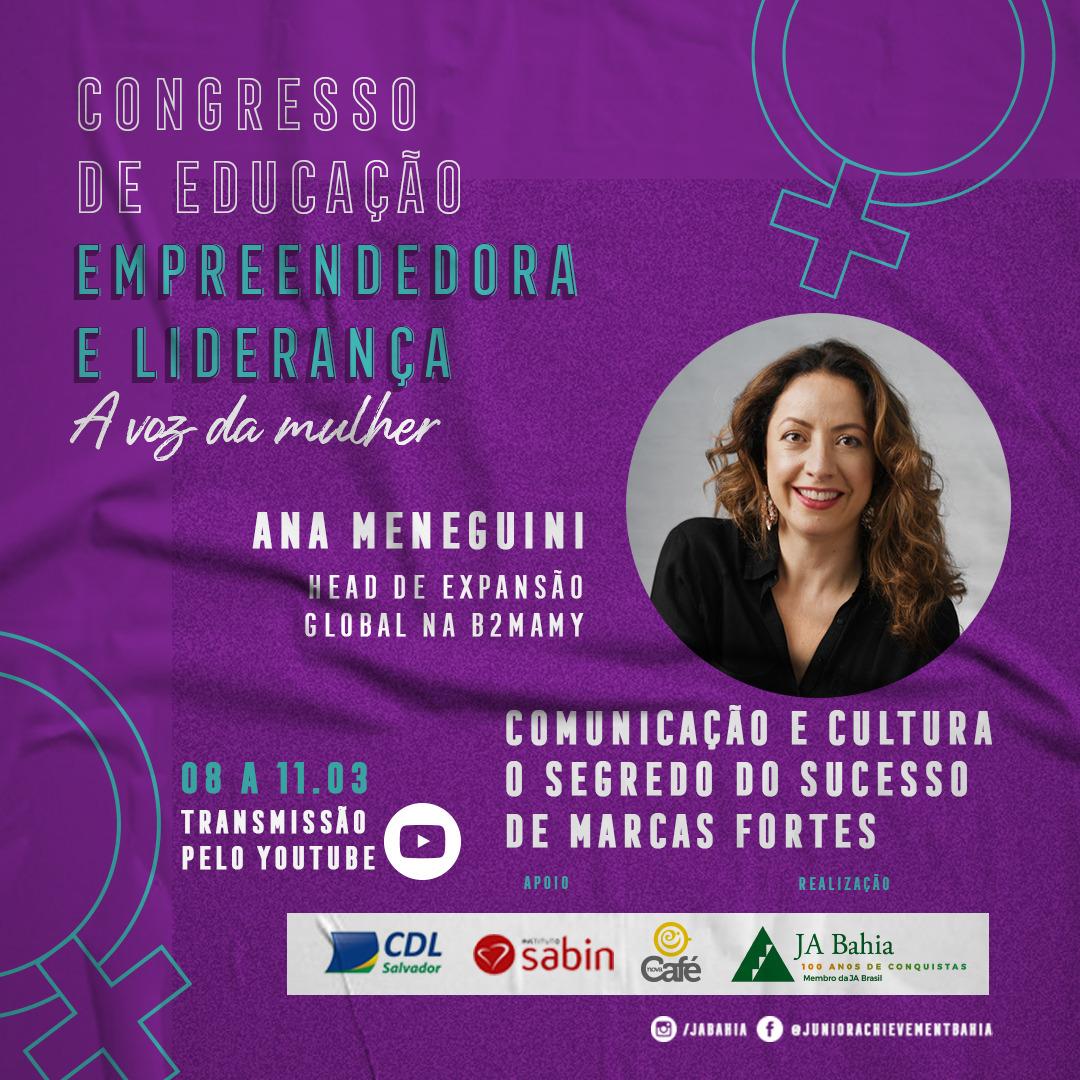 Palestrante Ana Meneguini - CDEL A Voz da Mulher
