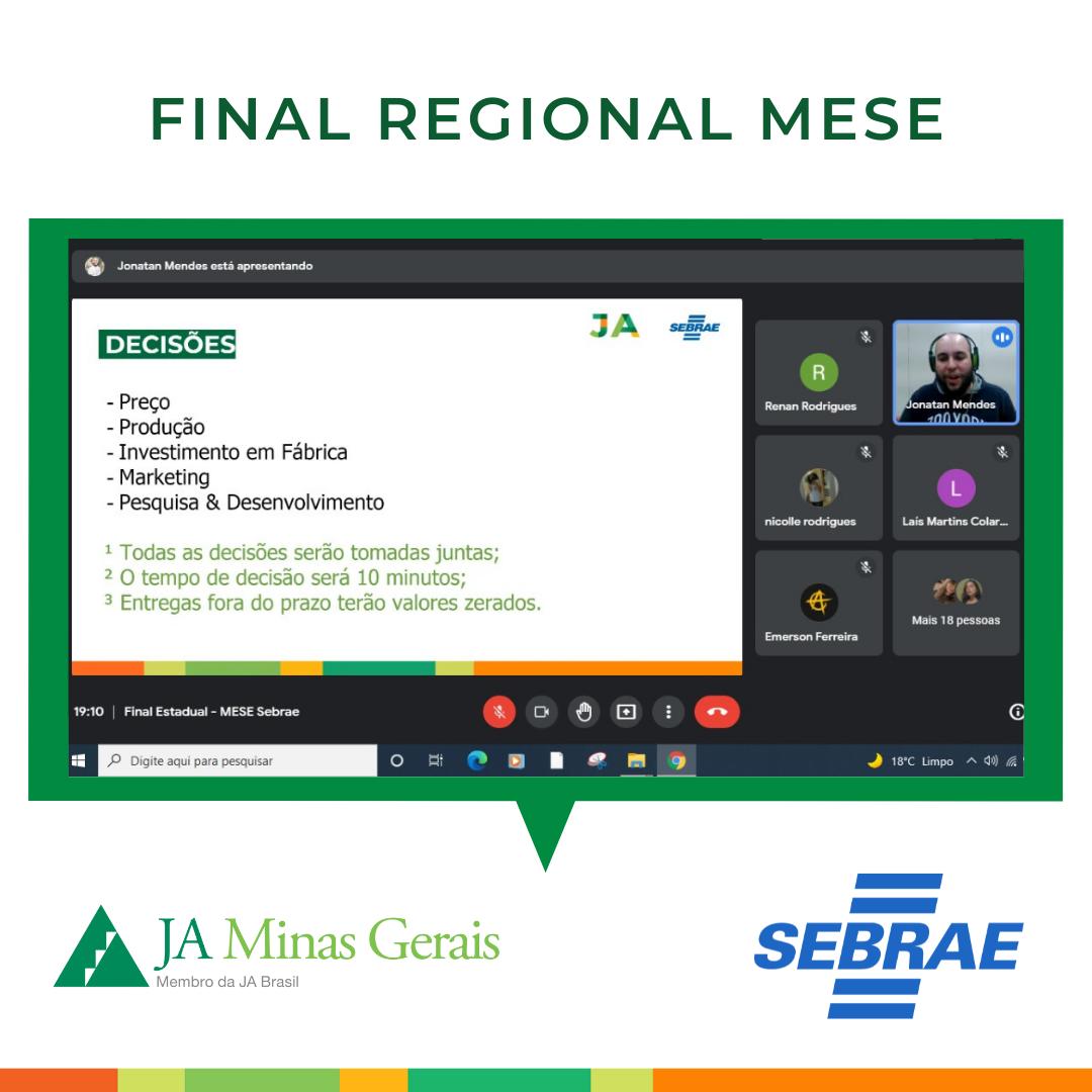 Parceria entre JA Minas Gerais e SEBRAE impacta jovens mineiros através do MESE