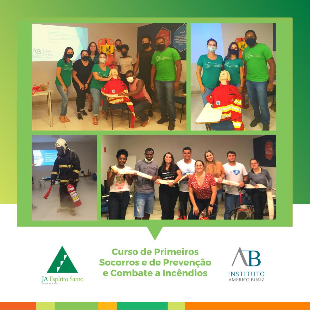 Curso de Primeiros  Socorros e de Prevenção e Combate a Incêndios do IAB
